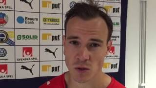 Anton Wede efter 1-1 mot Östersund