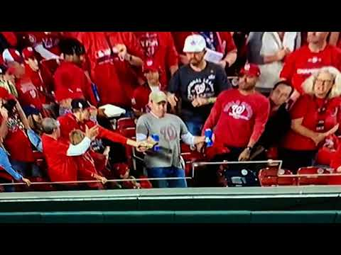 On The Web - Two Fisted Bud Light Guy At World Series Gets Free Trip To Game 6!