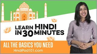 Gambar cover Learn Hindi in 30 Minutes - ALL the Basics You Need