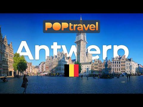 Walking in ANTWERP / Belgium 🇧🇪- Windy Day in the Old Town - 4K 60fps (UHD)