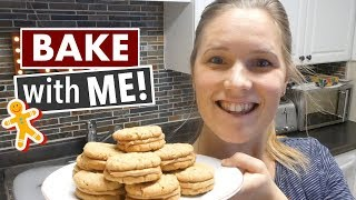 BAKE WITH ME! OATMEAL PEANUT BUTTER SANDWICH COOKIES! | CHRISTMAS RECIPE