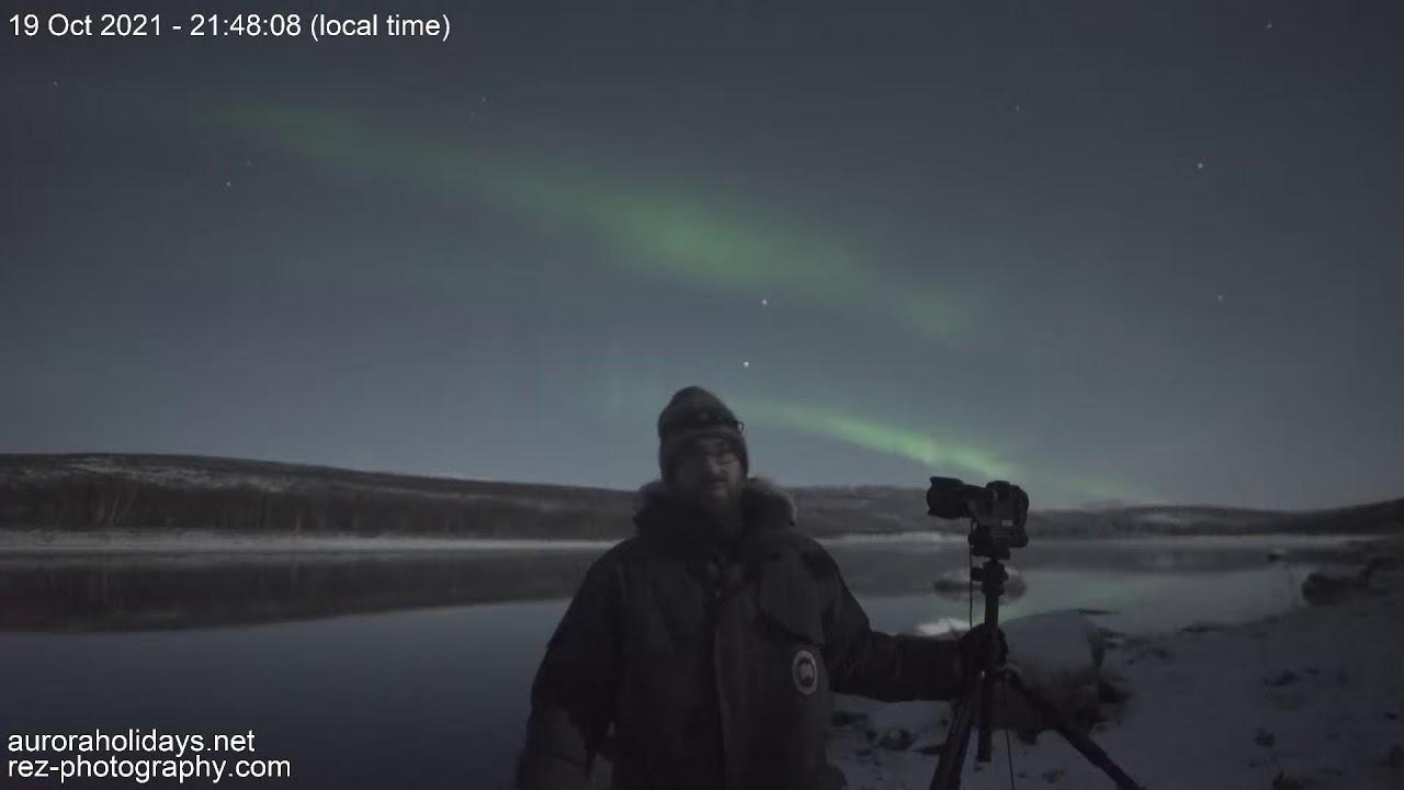 Download LIVE Northern Lights from Utsjoki in Finnish Lapland