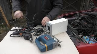 Простой инвертор тока из 12 В в 220 В  из старого бесперебойника на 300 Вт inverter 12-220volt(самодельный инвертор тока с 12 на 220 В из старого бесперебойника на 300 Вт, также можно использовать как зарядн..., 2015-12-30T11:12:07.000Z)