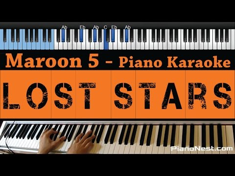 Maroon 5 / Adam Levine - Lost Stars - LOWER Key (Piano Karaoke / Sing Along)