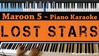 Maroon 5 / Adam Levine - Lost Stars - LOWER Key (Piano Karaoke / Sing Along)