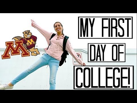 MY FIRST DAY OF SENIOR YEAR!! || University of Minnesota, College of Liberal Arts (VLOG)