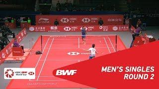 R2 | MS | Kento MOMOTA (JPN) vs Kantaphon WANGCHAROEN (THA) | BWF 2018