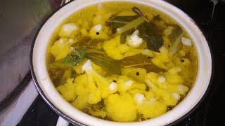 Маринованная цветная капуста. Маринование цветной капусты. /// Рickled cauliflower