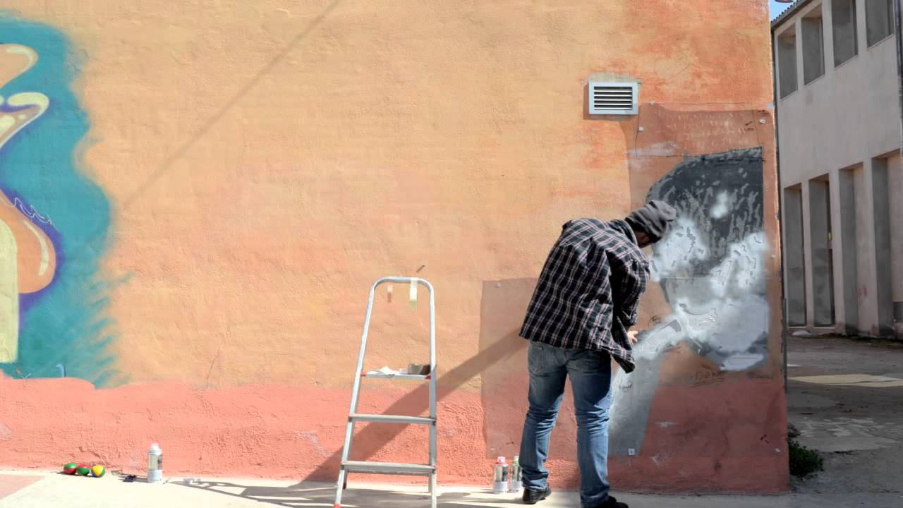 Stencil graffiti stop motion by BRN-ART - YouTube