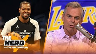 Colin Cowherd on player mobility, says KD can surpass LeBron if he stays with GS | NBA | THE HERD