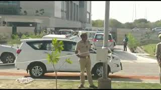 Grand Entry of CM Yogi Adityanath and his cavalcade at Greater Noida Authority