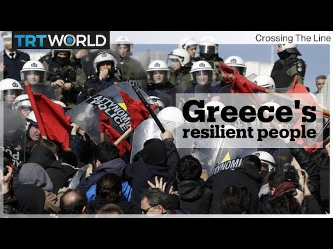 Greece's Resilient People   Crossing the Line