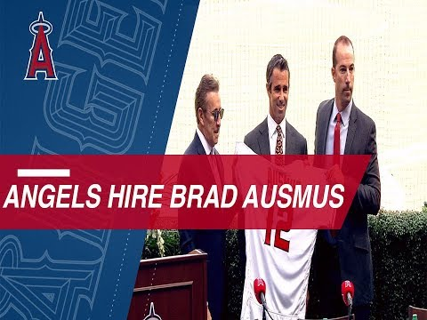 The Angels introduce Brad Ausmus as their new skipper