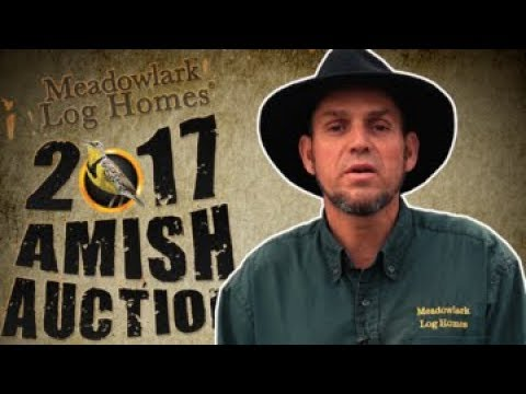 Amish Log Cabins, Quilts and Furniture at the 2017 Auction