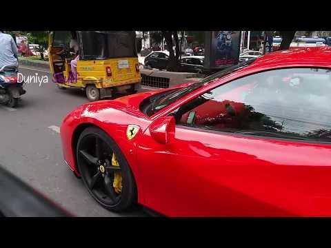 Ferrari 488 GTB Sports Car Spotted at Hyderabad, India |Duniya Stuff|