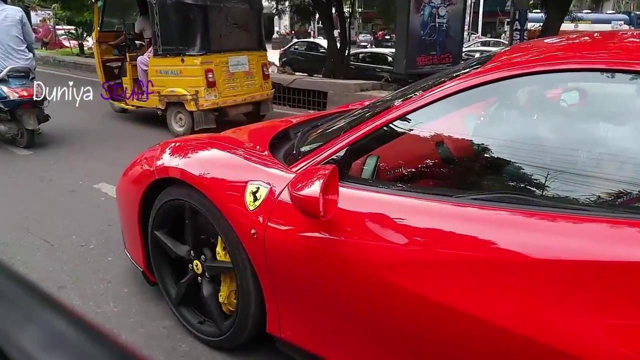 Ferrari 488 Spider GTB Sports Car Spotted At Hyderabad, India |Duniya Stuff|