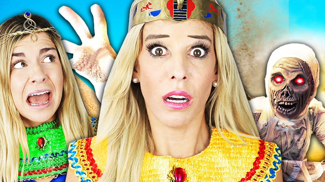 Rebecca and Maddie 24 Hour Egyptian Princess Challenge to Win Game Master Switch Up Device!