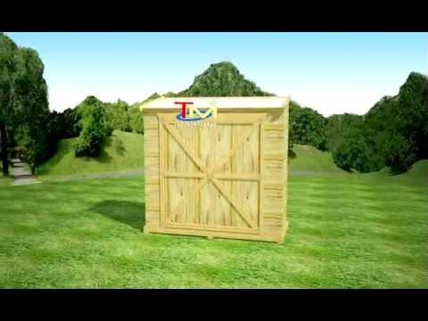 Armario de jard n de madera youtube - Armarios de madera para jardin ...