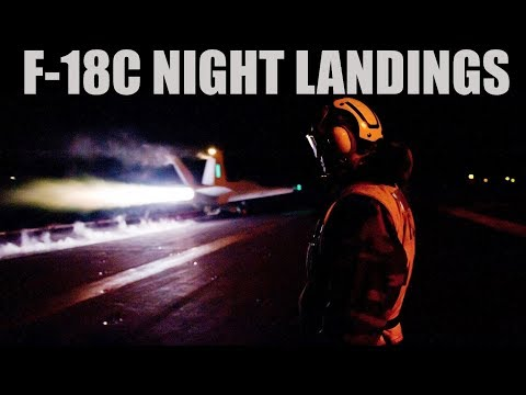 F-18C Hornet | Early Access | Night Carrier Landings & TACAN