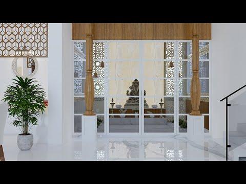 glass door design for puja room - YouTube