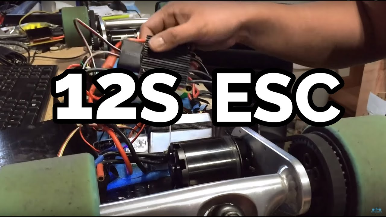 DIY Electric Skateboard: 12S ESC TorqueBoards - YouTube