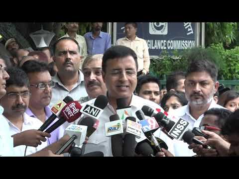 Rafale Scam: Randeep Singh Surjewala addresses media after meeting of Congress delegation with CVC