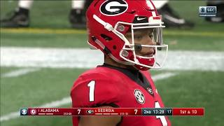 Justin Fields vs. Alabama (SECCG) 2018