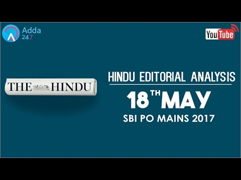The Hindu Editorial Analysis - 18th May 2017 - SBI PO - Online Coaching for SBI, IBPS & Bank PO