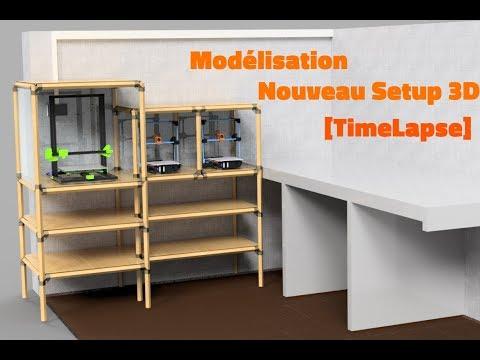 MODELISATION DE MON FUTUR SETUP 3D [TIMELAPSE]