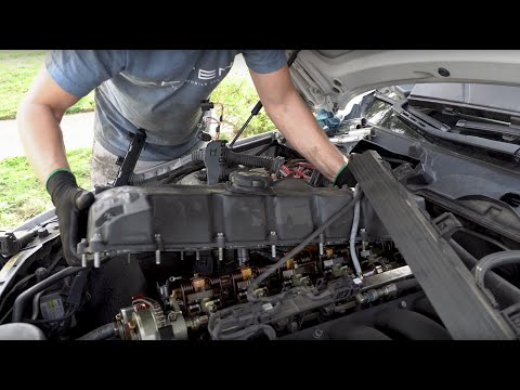 DIY How to replace valve cover gasket on 2009 BMW 328i E90, E91, E92, E93