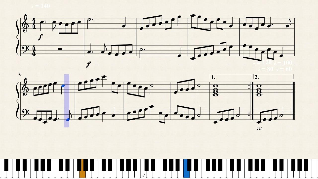 canon in c major pdf piano