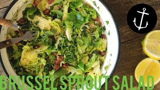 How to make Brussel Sprout and Kale Salad Bondi Harvest