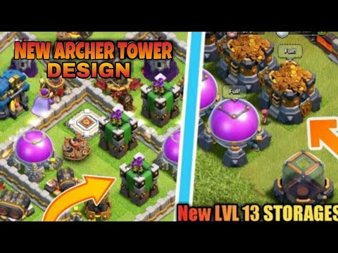 OMG! GUARD IN CLAN CASTLE | NEW LEVEL DARK STORAGE | NEW ARCHER TOWER DESIGN | NEW LVL WIZARD TOWER
