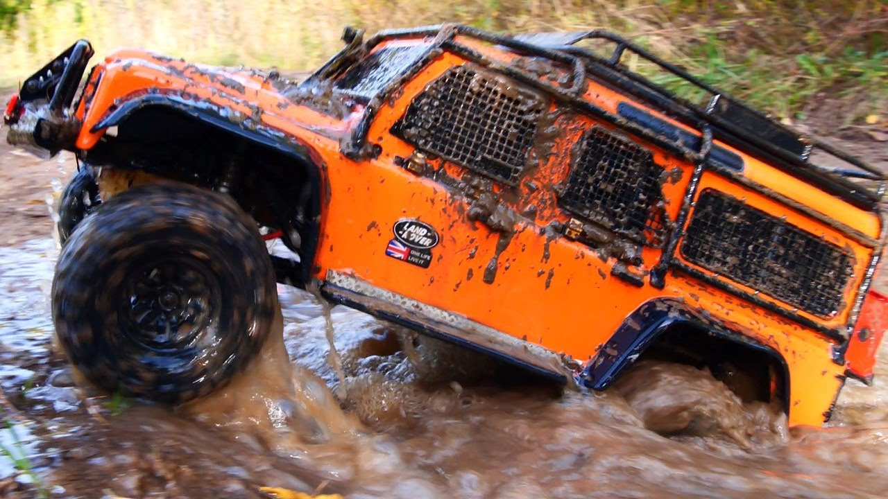 RC Extreme Pictures —  RC Car MUD OFF Road Land Rover Defender TRAXXAS TRX4