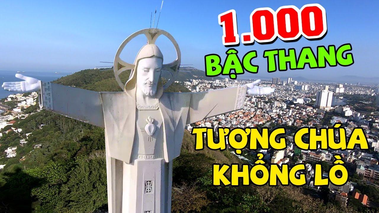 Thử thách leo 1000 bậc thang lên Tượng Chúa Khổng Lồ ở Vũng Tàu | Ngọc Thảo TV
