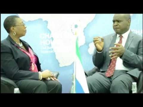 Princess Moradeun Meets Dr Alie Sarjan Kabba...Sierra-Leone's Next Presidential Candidate