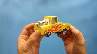 PAPERCRAFT : HOW TO MAKE  MINI TOW MATER CAR (Building Paper Model Car)