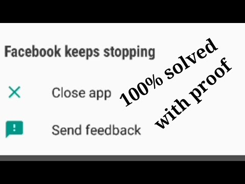 Fix problem Facebook has stopped