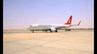 وصول الخطوط التركية لمطار الامير نايف بالقصيم 2013م