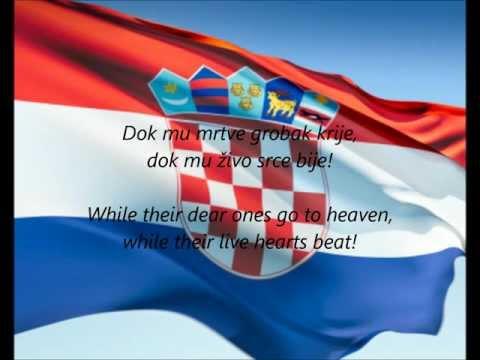 Croatian National Anthem - 'Lijepa Naša Domovino' (HR/EN)
