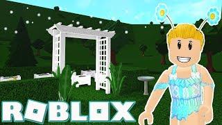 Roblox Welcome to Bloxburg ~ Adding a Playground & Garden to My Cafe