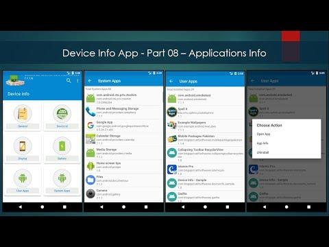 Device Info App - Part 08 – Applications Info