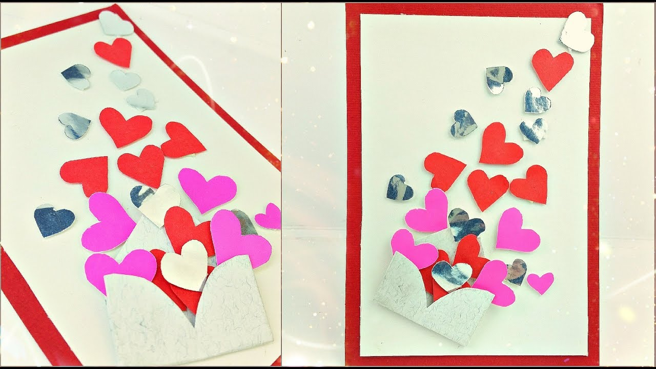 Valentine S Day Gift Card Ideas Homemade For Boyfriend Heart Card
