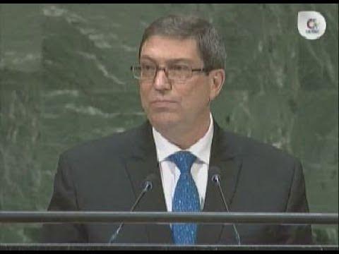 Intervención del Canciller de Cuba Bruno Rodríguez en la Asamblea General de las Naciones Unidas