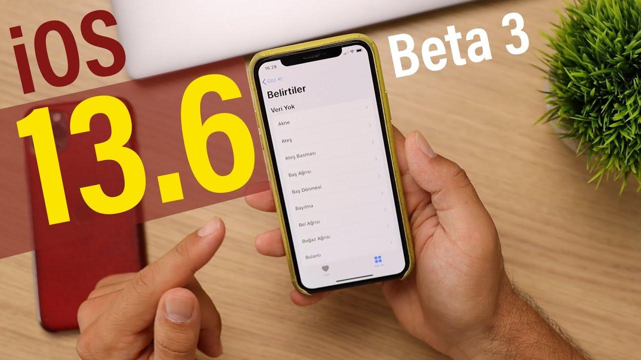 iOS 13.6 Beta 3 & iOS 14'ten Kısa Bilgiler