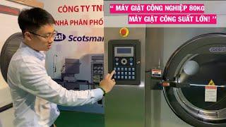 [HOT] Máy giặt công nghiệp 80kg công suất lớn dành cho khách sạn, bệnh viện, khách sạn