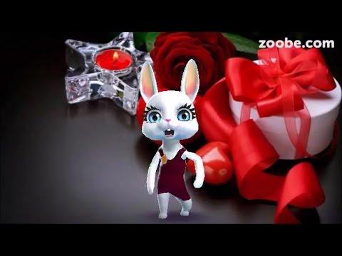 Zoobe Зайка С днем рожденья поздравляю! - Лучшие видео поздравления в ютубе (в высоком качестве)!