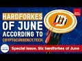 Six hardforkes of June according to Cryptocurrency.Tech