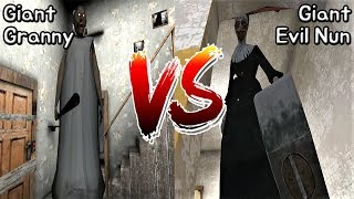 Granny vs Evil Nun || Giant Mod Battle || Horror Game - 거인 그래니 vs 거인 미친수녀 배틀