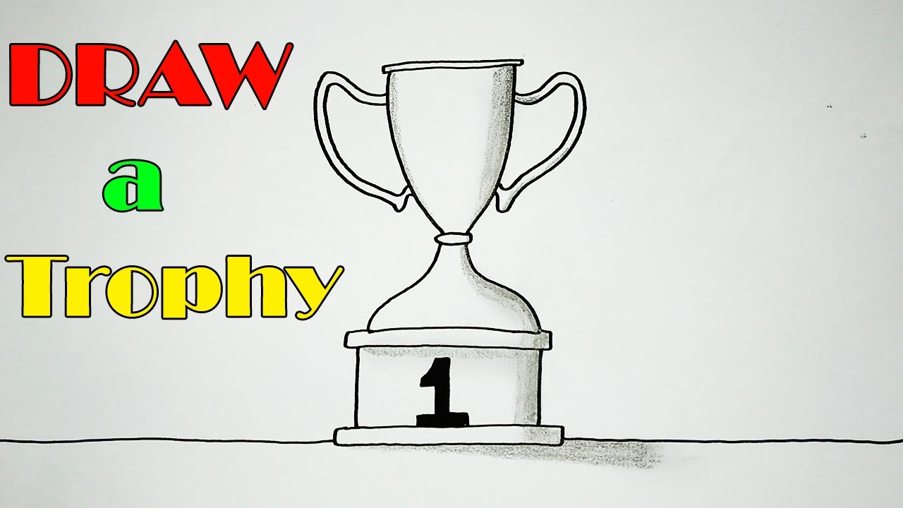 How to Draw a Trophy - VERY EASY - ART FOR KIDS - Step By Step